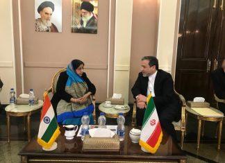 Sushma Swaraj Meets Seyed Abbas Araghchi